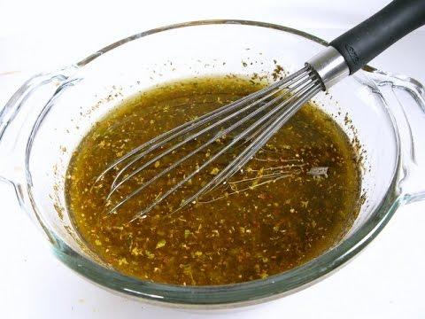 Вкусная заправка к салату и рецепт салата