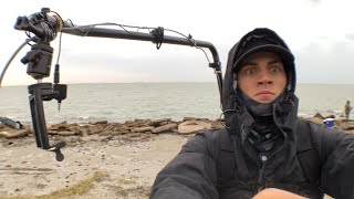 SUFFERING thru cold for fishing livestream