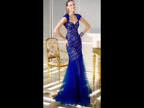 Elegante Vestido Color Azul Rey Mp3