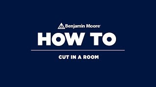 How to cut in paint in a room