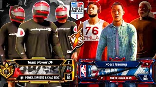 POWER DF vs 76ERS GC - NBA 2K LEAGUE $25,000 3V3 TOURNAMENT ROUND 2 NBA 2K20 PARK