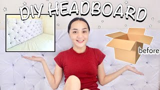 DIY Headboard From Cardboard Box! (AMAZING!) 💯 - Philippines