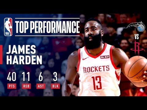 9a38d064a61f James Harden GOES OFF For 40 Points Against Orlando