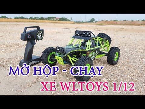 [Mở hộp – Chạy Thử] Xe điều khiển Wltoys 12428 4WD, tỷ lệ 1/12, 50KM/h