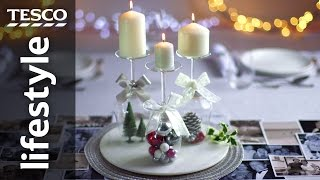 How to create a wine glass candle holder for Christmas