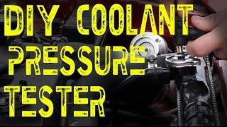 DIY Coolant System Pressure Tester   Find Coolant Leaks   Diagnose Bad Head Gasket