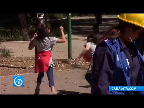 DIF de la CDMX realiza talleres en parques públicos para enseñar a niños y adultos cómo actuar en caso de sismo