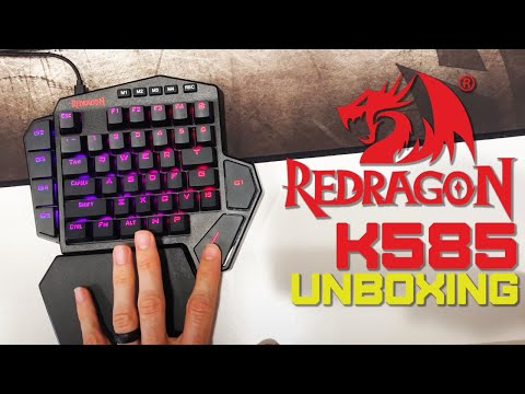 Unboxing the Redragon K585 DITI One-Handed RGB Mechanical Gaming Keyboard