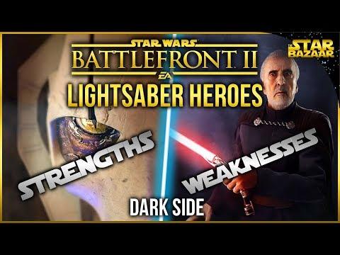 Lightsaber Hero Strengths And Weaknesses (Dark Side)   Star Wars Battlefront 2 Tips