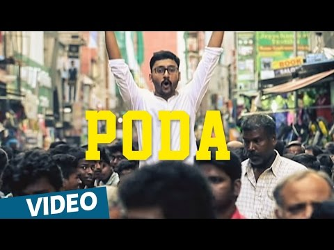 Chennai-2-Singapore-Songs-Poda-Song-with-Lyrics-feat-RJ-Balaji-Abishek-Ghibran-Abbas-Akbar