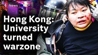 Hong Kong university campus torn apart by deadly street battles