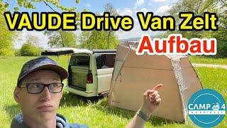 Aufbau VAUDE Drive Van Zelt / Der Aufbau im Detail / Heckanbau, Seitenanbau & Freistehend