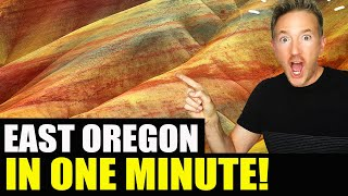 EASTERN OREGON / PAINTED ROCKS in ONE MINUTE! (Best Travel Videos)