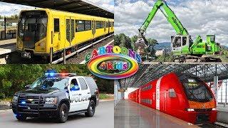 Учим цвета машинки и поезда. Обучающее видео транспорт для детей in English