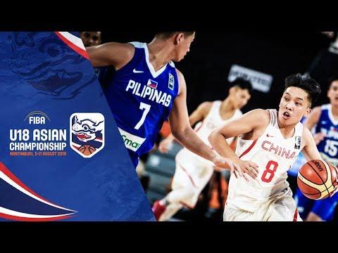 China v Philippines - 3rd Place - Full Game - FIBA U18 Asian Championship 2018