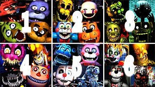 Five Nights At Freddy's 1 2 3 4 5 6 All Jumpscares | FNAF 1-6 All Jump Scares (FNAF 2018)