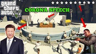 GTA 5 : Franklin killing China's president | Corona Speech In Los Santos