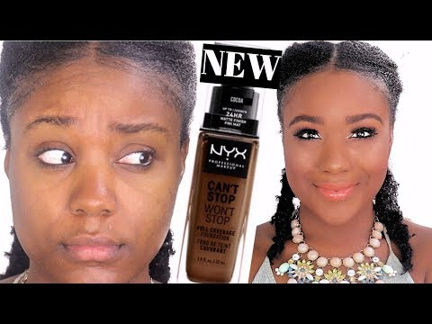 NEW NYX Foundation!!! CAN'T STOP WON'T STOP FOUNDATION REVIEW + Wear Test + Swatches l Rose Kimberly