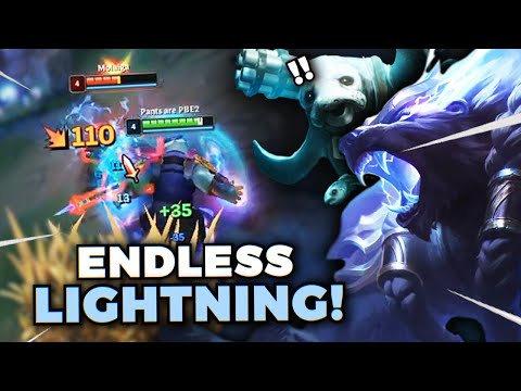 *NEW* REWORKED VOLIBEAR ON URF IS HILARIOUS!! ENDLESS LIGHTNING + BITE SUSTAIN! - League of Legends