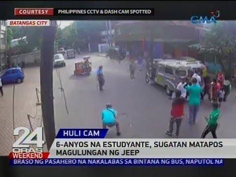 [GMA]  6-anyos na estudyante, sugatan matapos magulungan ng jeep