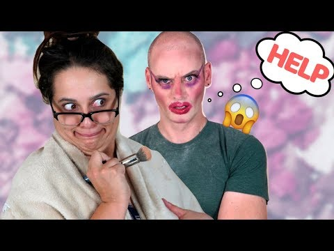 MAKEUP ARTIST KRIJGT MAKE-OVER! (видео)