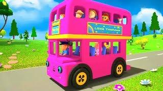 Pink Wheels On The Bus   Kindergarten Nursery Rhymes   Songs for Children