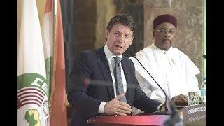 Niamey, conferenza stampa del Presidente Conte e del Presidente della Repubblica del Niger