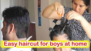 Haircut For Men At Home In Easy Simple Steps / Easy Haircut For Boys At Home