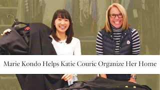 Katie Couric Learns How To Organize from Declutter Expert Marie Kondo | Architectural Digest