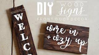 DIY Wood Signs | Front Door Decor