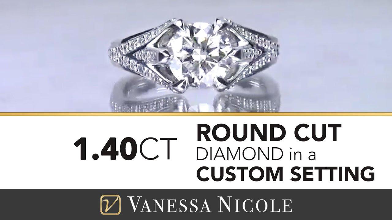 1.40ct Round Cut Diamond Ring