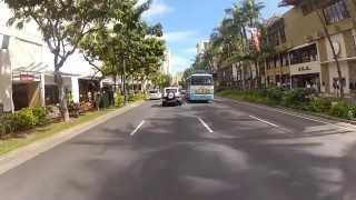 preview picture of video 'GoPro Hero - Oahu, Hawaii - Driving MoPed around Kuhio Ave.  and Kalakaua Ave. in Waikiki'
