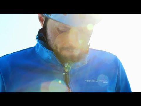 Endura Pro SL Thermal Windproof II Jakke Blå video