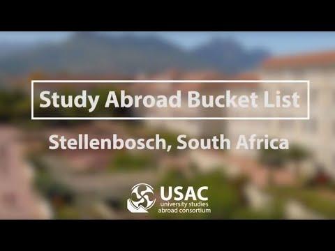 Stellenbosch Bucket List