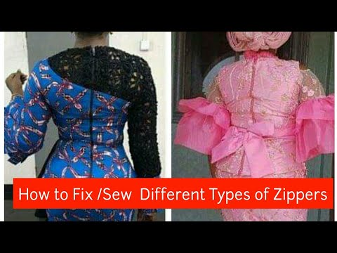 How to Fix / Sew Different Types of Zippers