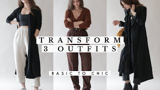 How To Transform Outfits For Fall - Basic To Chic | Dearly Bethany