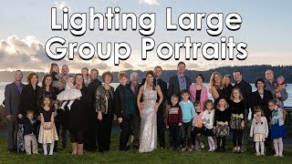 How To Light LARGE Group Portraits