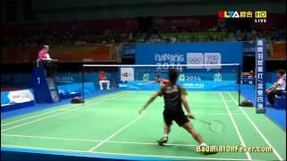 Badminton Highlights - Lin Gui Pu Vs Ginting Anthony - 2014 Nanjing Youth Olympics SF MS