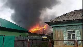 Новосибирск. Пожар на Изыскателей.
