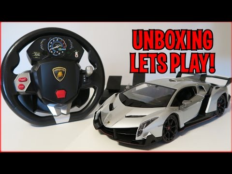 UNBOXING & LETS PLAY – 1/14 Scale Lamborghini Veneno RC car – FULL REVIEW! By Best Choice Products