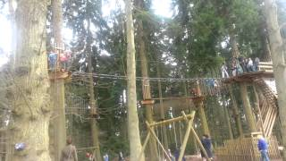 preview picture of video 'Leela (6) on GoApe (Thetford Forest)'
