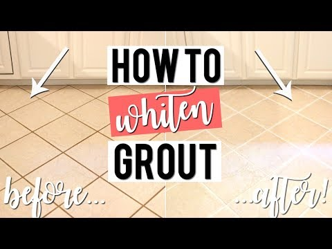HOW TO WHITEN GROUT WITHOUT SCRUBBING | Cheap, Easy DIY!