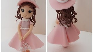 How To Make A Easy Fondant Girl . Cake Topper Tutorial .