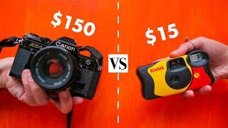 Can A 15$ Disposable Camera Beat A Film Camera?