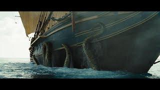 Уилл на судне. Дейви Джонс призывает Кракена. Кракен топит судно. HD