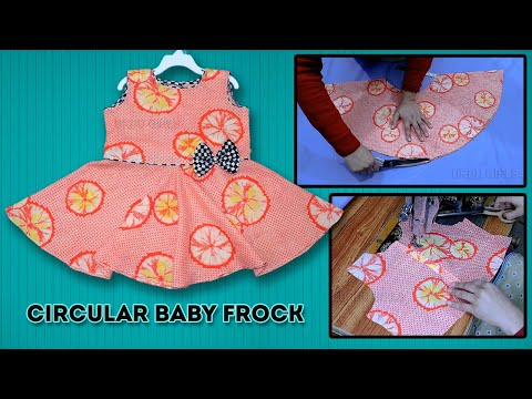 b8d1cd0f1 Circular Baby Frock Cutting And Stitching Very Easy Step By Step ...