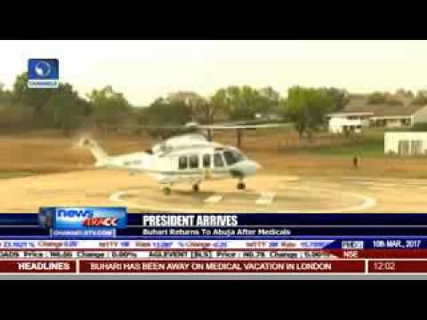 President Buhari Speech after his arrival