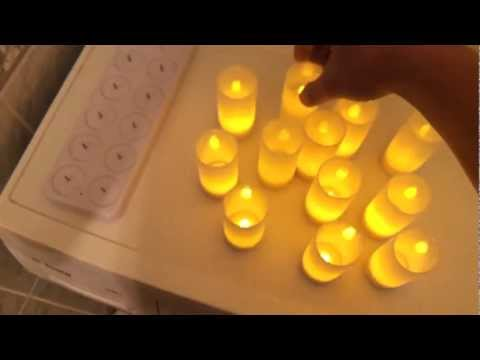 Conjunto Com 12 Velas de LED