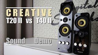 Creative T20 Series II vs Creative T40 Series II  ||  Sound Demo w/ Bass Test