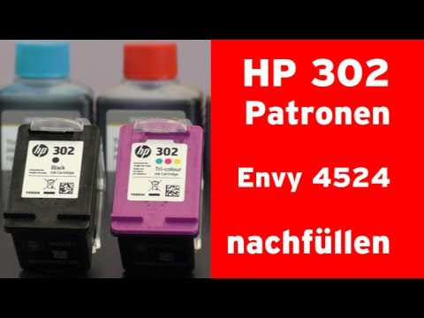 Wie füllt man eine HP 302 Tintenpatrone nach? HP Envy 4524
